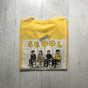 "Back Graphic ""Seoul"" Pocket T-shirt"
